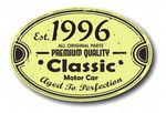 Distressed Aged Established 1996 Aged To Perfection Oval Design For Classic Car External Vinyl Car Sticker 120x80mm